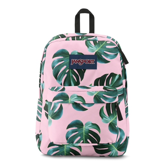 Jansport Handbags - 💕Host Pick💕 Pink Monstera Leaf Backpack